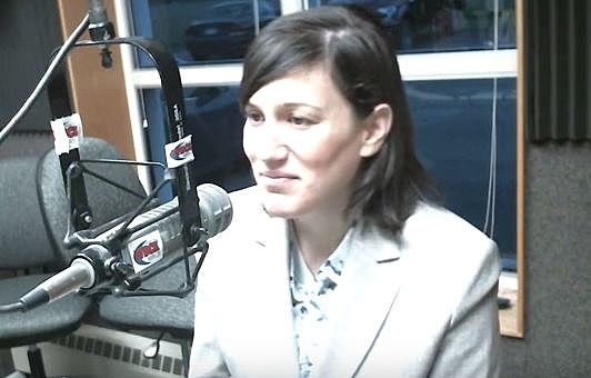 Dr. Dania Bazzi, superintendent at the Galesburg-Augusta School District in the WBCK studio September 29. WBCK-Townsquare Media