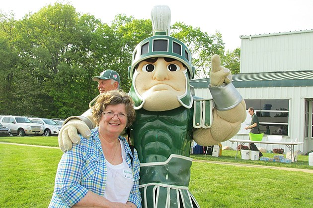 Sharon Peters and Sparty!