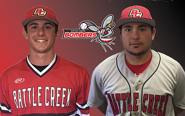 Nick Walker and Jacob Blunt return to the Battle Creek Bombers (Photos provided by Battle Creek Bombers)