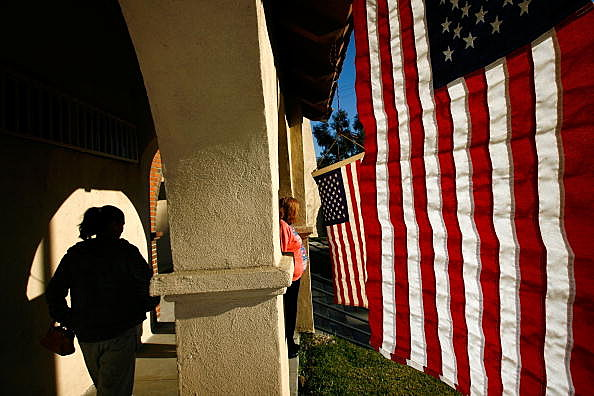 California Voters Participate In The State's Pivotal Primary