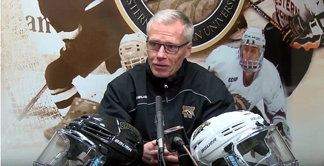 Western Michigan Bronco Hockey Head Coach Andy Murray talks about their upcoming trip to Minneapolis for the NCHC Frozen Faceoff. (Western Michigan Bronco Athletics-YouTube)