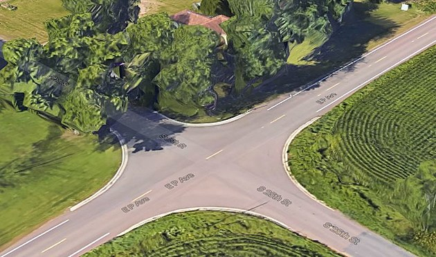 The Crash Took Place At This Intersection. (Credit: Google Maps)