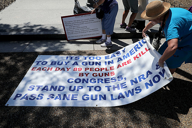 Gun Control Activists Protest Outside The White House