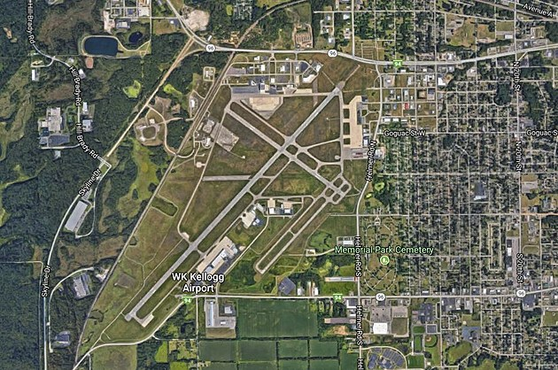 A view of the W.K. Kellogg Airport in Battle Creek. ( Google Maps)