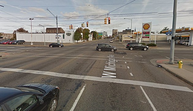 The Intersection That Was Blocked In Kalamazoo (Credit: Google Maps)