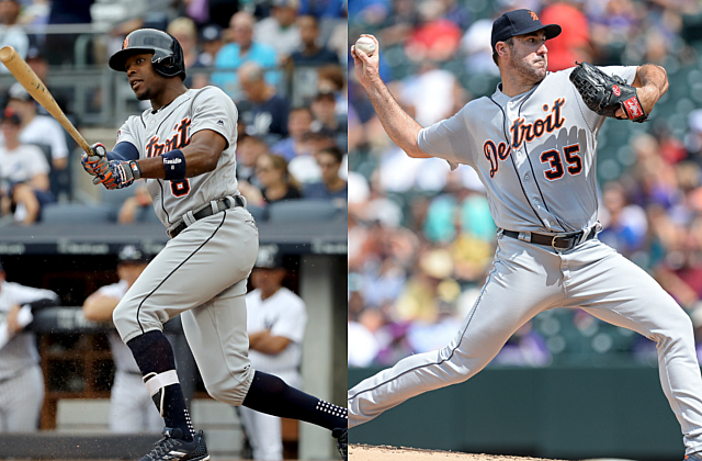 Detroit Tigers no more, as Justin Upton and Justin Verlander move on from Thursday trades (Elsa/Dustin Bradford - Getty Images)