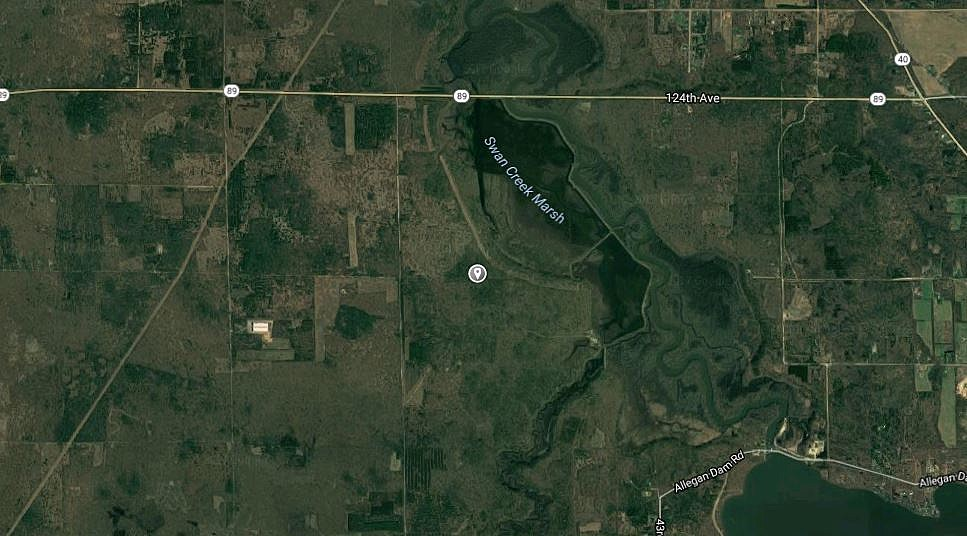 The area of the Allegan State Game Area where a body was found October 24th. (Credit - Google Maps)