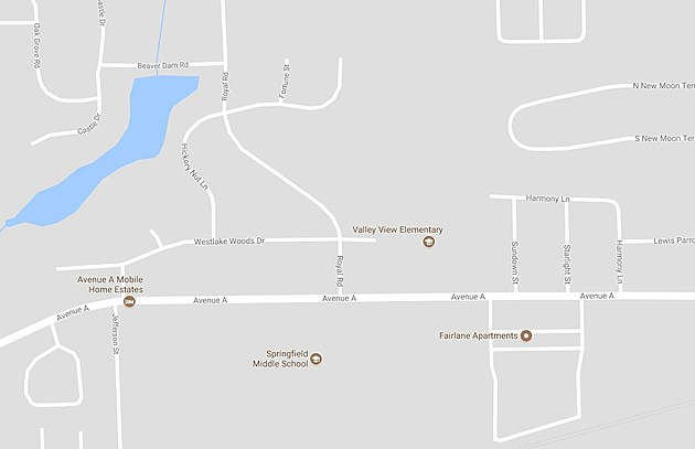 The home the search warrant was sought for is within walking distance of two schools. (Credit: google Maps)