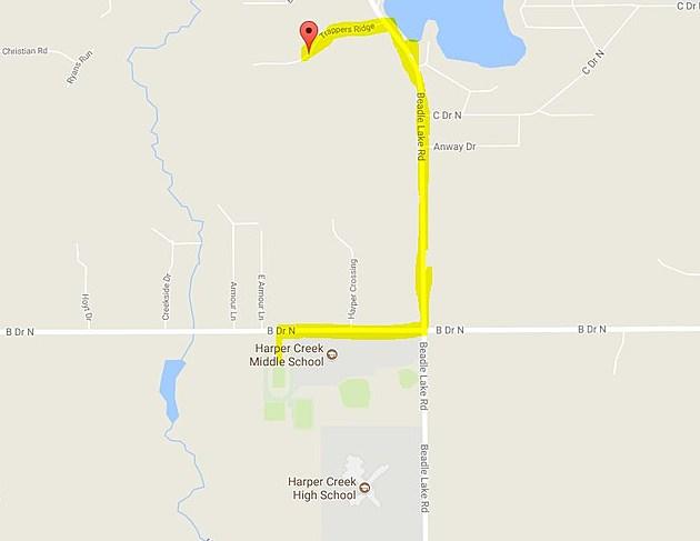 Harper Creek's Route. (Credit: Google Maps)