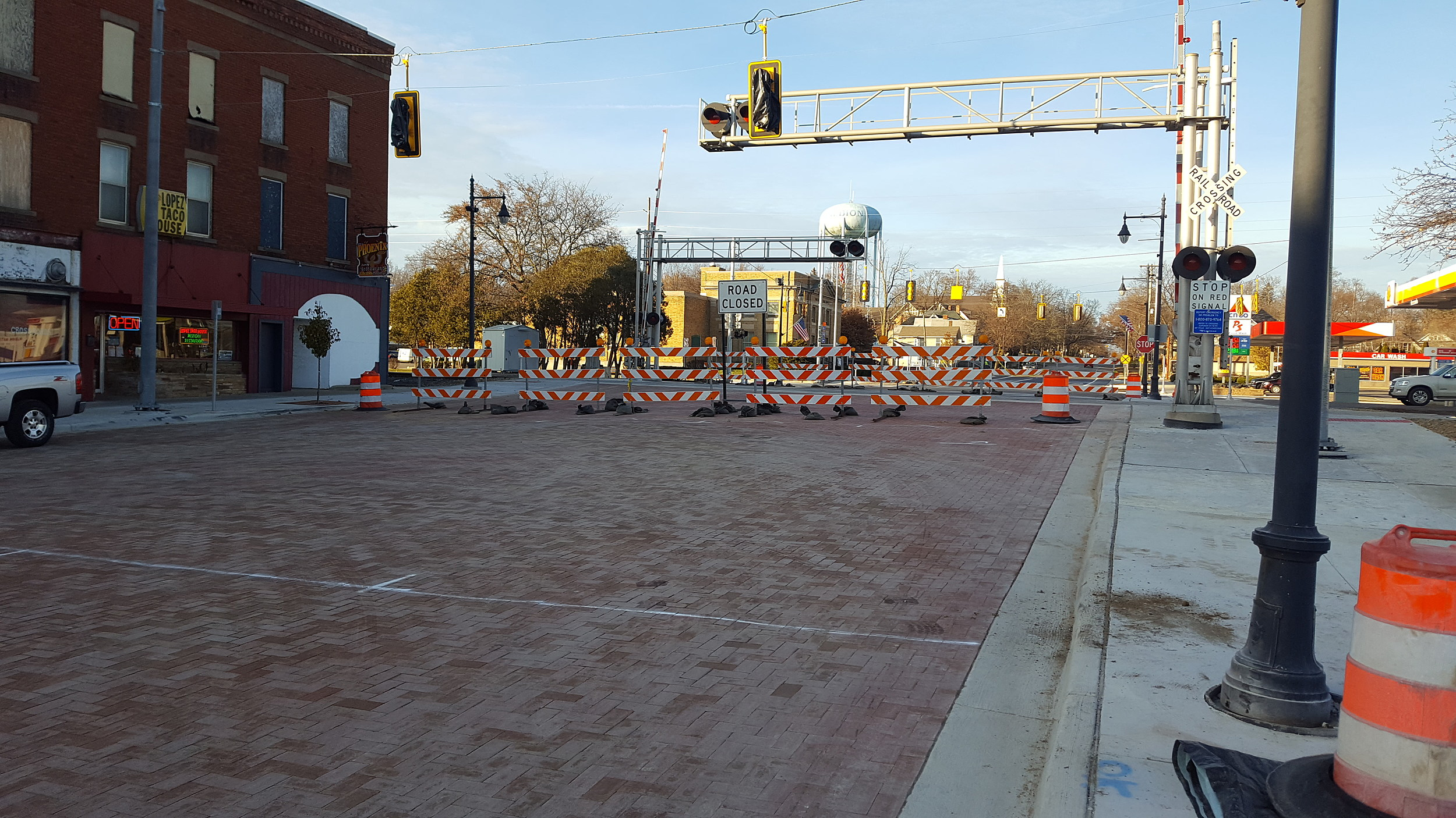 A portion of Superior Street in downtown Albion was set to reopen December 2nd. (Photo - Nathan Adams)