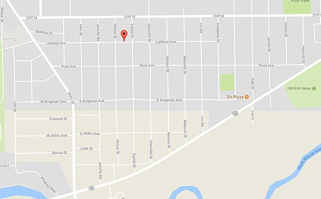The Shooting Occurred On Lathrop Ave. In Battle Creek (Credit: Google Maps)