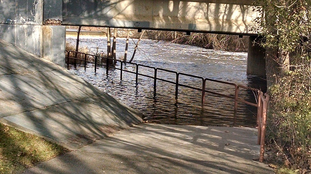 The state of the Linear Path in Battle Creek under the Emmett Street Bridge November 21st. (Photo provided by the City of Battle Creek).