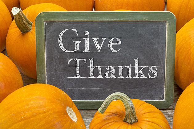 give thanks phrase on balckboard